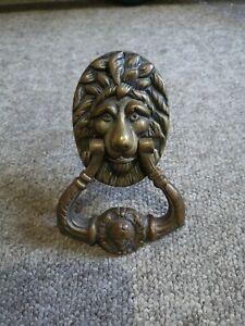 Vintage Large Solid Brass Lion Door Knocker