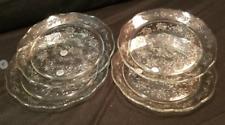 NEW Princess House Fantasia  4 Crystal  Scalloped Dinner Plates 5287