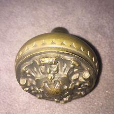 Antique Victorian  Fourfold Symmetry  Cast Brass Doorknob