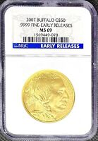 2007 G$50 Gold American Buffalo 1 oz .9999 24KT • NGC MS69 EARLY RELEASES Coin!