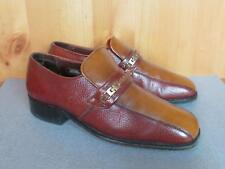 Vintage Nunn Bush Leather Classic Loafers 2 Tone Shoes Size 7.5 Great Condition!