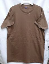 US MILITARY BROWN T-SHIRT TSHIRT  SIZE LARGE WORN WITH CAMO BDU PANTS
