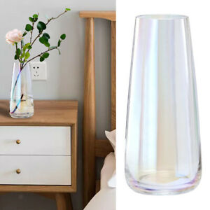 Glossy Glass Vase Crystal Home Office Tall Floral Vase Decoration Container