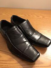 Sacha Too Mens European Style Black Leather Slip On Dress Casual Shoe SZ 9