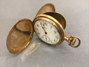 Antique OMEGA POCKET WATCH MANUAL GOLD PLATED RUNNING