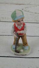 Birthday Month Figurine Boy November Boy Playing Golf