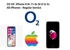 O2 UK  iPhone-X 8+ 7+ 6s SE 6 5s 5c All IPhones - Regular Service