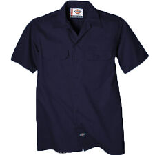Dickies Work Shirts Mens Short Sleeve Button Front Stripe Work Shirt WS515 COLOR