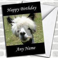 Funny Alpaca Personalized Birthday Card