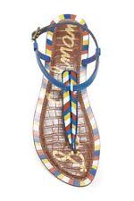 Sam Edelman Gigi 5 Flip Flops Thong Sandals Shoes T-Strap Size 9.5 Multi-Color