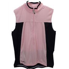 Canari Half Zip Sleeveless Women's Cycling Jersey Pink/Black Large