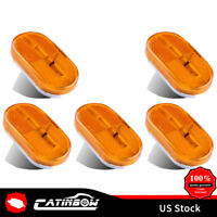 "5 x Amber Side marker Light  6 LED 4"" x 2"" Clearance Assembly For Camper Trailer"