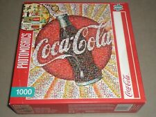 BUFFALO GAMES 1000 pc puzzle COCA COLA - PHOTOMOSAICS by ROBERT SILVER  COMPLETE