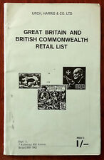 Urch, Harris & Co. Ltd Great Britain and British Commonwealth Retail List, 1969