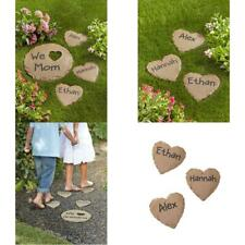 """New listing Personalized Garden Heart And 12"""" Circle Stepping Stone"""