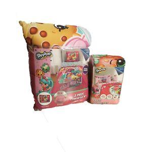 New Shopkins Twin/Full  Comforter, Pillow Sham and 4 pc full sheet set