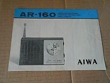 More details for a vintage aiwa  ar-160 radio instruction booklet -very rare !