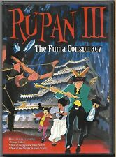 Rupan III - The Fuma Conspiracy (DVD, 2003) - SEALED - Brand New - Animeigo NTSC