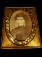 Antique, H. D. Sterrick Picture Frame,Bubble Glass Morher Pearl.