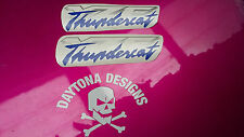 YZF THUNDERCAT SILVER & BLUE FAIRING PANEL CUSTOM DECALS STICKERS GRAPHICS