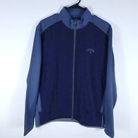 Callaway Full Zip Quilted Weather Series Golf Fleece Jacket Blue Men's Medium M