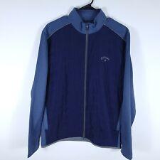 Callaway Full Zip Quilted Weather Series Golf Fleece Jacket Blue Men's Medium M