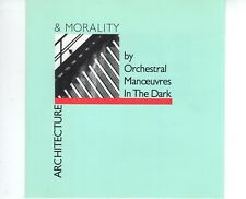 CD ORCHESTRAL MANOEUVRES IN THE DARKarchitecture & moralityUK EX (B2350)