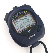 Large Display 60 split recallable memory Professional Stopwatch Timer C3860
