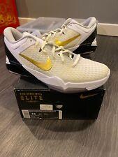 New Nike Zoom Kobe 7 VII System Elite White Metallic Gold 511371 100 Size: 13