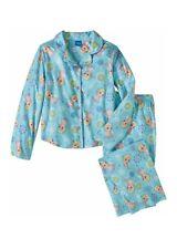 Disney Frozen 2 Piece Coat Style Elsa Brushed Polyester Pajama Set Size 10/12