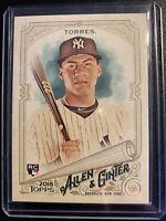 2018 Topps Allen & Ginter Gleyber Torres Rookie Card #240 N.Y. Yankees RC MLB