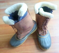 Vintage Timberland Boots Size 12 Ice Fishing Snowmobile Wintr Lined Leather Wool