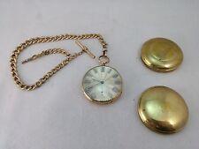 large 18 k gold swiss pocket watch full jeweled signed David Humbert runs