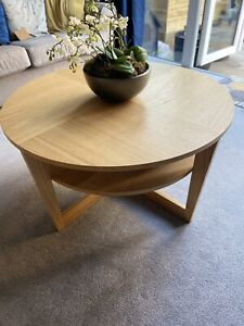 IKEA VEJMON Coffee table,90cm diameter, oak veneer EXCELLENT CONDITION