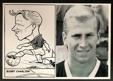 1962 LEAF FOOTBALLERS PORTRAIT AND CARICATURE BOBBY CHARLTON MAN UTD *RARE*
