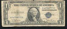 """1935-C $1 ONE DOLLAR SILVER CERTIFICATE """"GUTTER FOLD ERROR"""""""
