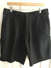 Men's Billabong Twill Walking Short, Black Pinstripe Size 34