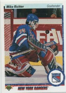 90-91 UPPER DECK ROOKIE MIKE RICHTER RC #32 NY RANGERS