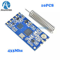 10PCS 433Mhz HC-12 SI4463 Wireless Serial Port Module 1000m Replace Bluetooth