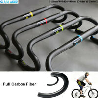 ASIACOM Carbon Fiber Road Bike Handlebar Drop Bar Ultralight 31.8*400/420/440mm