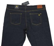 Men's Lyle & Scott Straight Slim Stretch Dark Blue Denim Jeans W44 L32