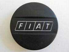 Fiat Used Black with White Fiat Logo Wheel Center Cap
