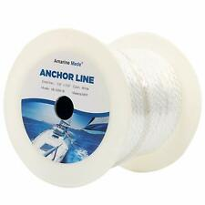 150 Feet Premium Solid Braid MFP Anchor Line with Thimble-Boat Yacht Anchor Rope