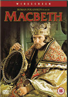 Macbeth DVD (2002) Jon Finch, Polanski (DIR) cert 15 ***NEW*** Amazing Value
