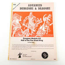 Advanced Dungeons & Dragons Module G3 Hall of the Fire Giant King 1978 TSR Gygax