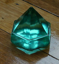 Vintage green Glass Deckprism, Paperweight