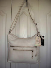 $99 GENUINE LEATHER Handbag Hobo Sachel Purse Shoulder Bag ST JOHNS BAY Zippers