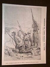 Guerra in Europa Anno 1914 Aisne Fucili e mitra puntati contro un Taube Francia