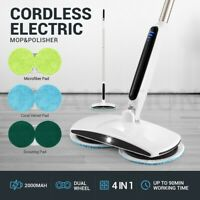4 In 1 Electric Floor Cleaner Mop Rotating Spin Tile Wax Polisher Dry Wet Clean