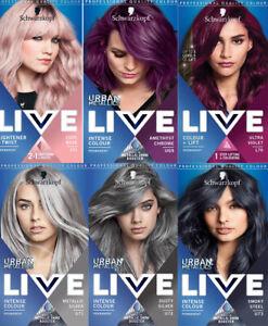 Schwarzkopf Live Colour + Lift Permanent Hair Color Cream Dye Urban Metallics
